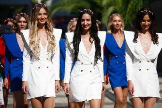Russische vrouwen bij de Grand Prix in Sochi