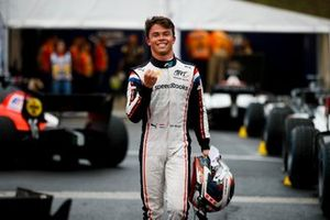 Pole Sitter Nyck De Vries, ART Grand Prix celebrates in parc ferme