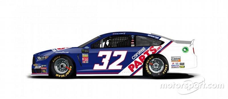 O carro da GoFas Racing de Corey Lajoie será baseado no carro Xfinity Series patrocinado pela Nestlé Crunch de 1990-1991, de Dale Jarrett.