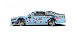 Throwback-Design: Michael McDowell, Front Row Motorsports, Ford Mustang