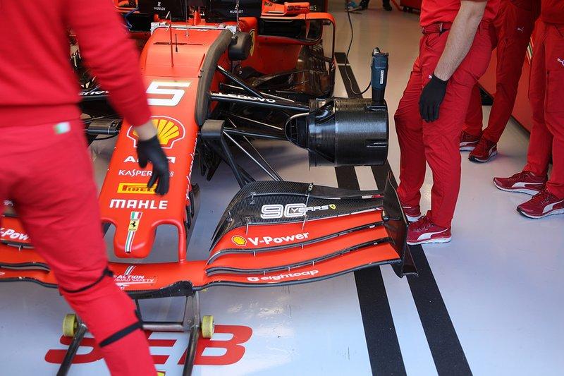 Sebastian Vettel, Ferrari SF90 ön detay