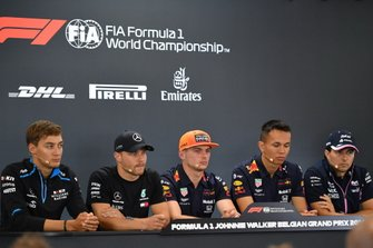 George Russell, Williams Racing, Valtteri Bottas, Mercedes AMG F1, Max Verstappen, Red Bull Racing, Alexander Albon, Red Bull and Sergio Perez, Racing Point
