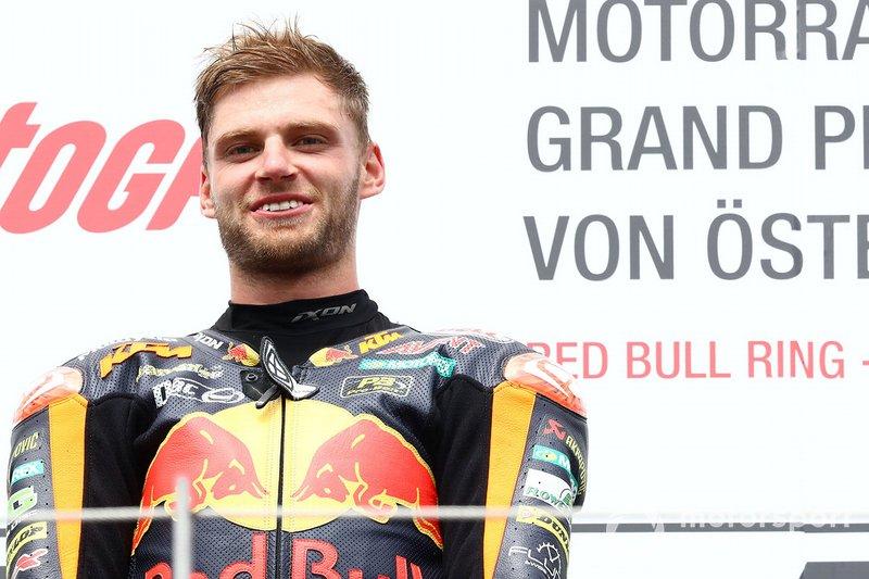 Podium: winnaar Brad Binder, KTM Ajo