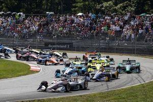 Départ : Will Power, Team Penske Chevrolet, Alexander Rossi, Andretti Autosport Honda, Josef Newgarden, Team Penske Chevrolet.