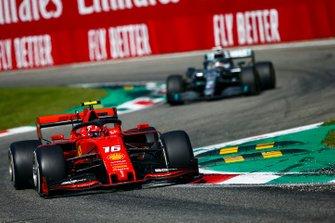 Charles Leclerc, Ferrari SF90 and Lewis Hamilton, Mercedes AMG F1 W10