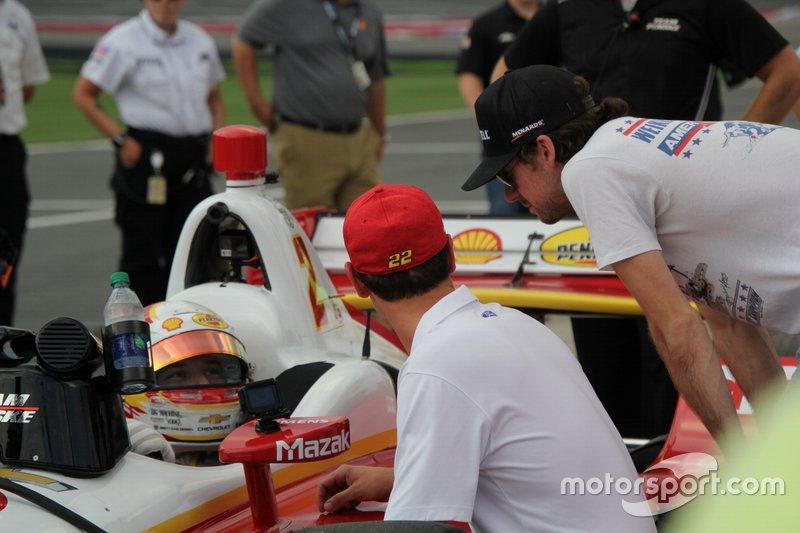 Josef Newgarden, Team Penske Chevrolet, Joey Logano , Ryan Blaney