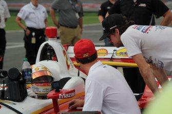 Josef Newgarden, Team Penske Chevrolet, mit Joey Logano und Ryan Blaney