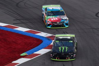 Kurt Busch, Chip Ganassi Racing, Chevrolet Camaro Monster Energy, Kyle Busch, Joe Gibbs Racing, Toyota Camry M&M's Hazelnut