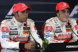 Lewis Hamilton, McLaren and Fernando Alonso, McLaren
