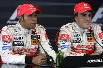 Lewis Hamilton, McLaren et Fernando Alonso, McLaren