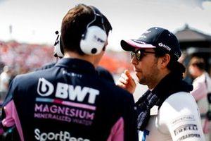 Sergio Perez, Racing Point, sulla griglia
