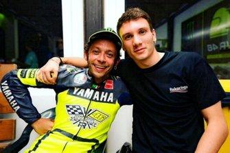 Valentino Rossi con il nuotatore Manuel Bortuzzo