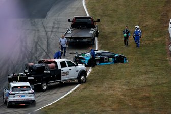 #48 Paul Miller Racing Lamborghini Huracan GT3: Bryan Sellers, Corey Lewis, Marco Seefried after the crash