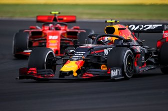 Pierre Gasly, Red Bull Racing RB15, leads Charles Leclerc, Ferrari SF90