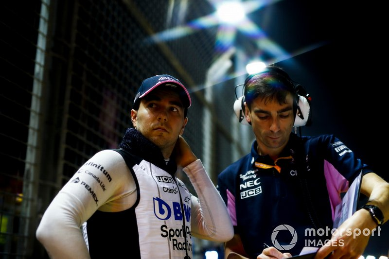 Sergio Perez, Racing Point on the grid