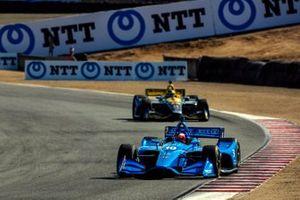 Felix Rosenqvist, Chip Ganassi Racing Honda, Zach Veach, Andretti Autosport Honda