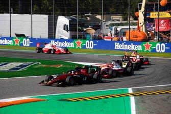 Richard Verschoor, MP Motorsport en Marcus Armstrong, PREMA Racing
