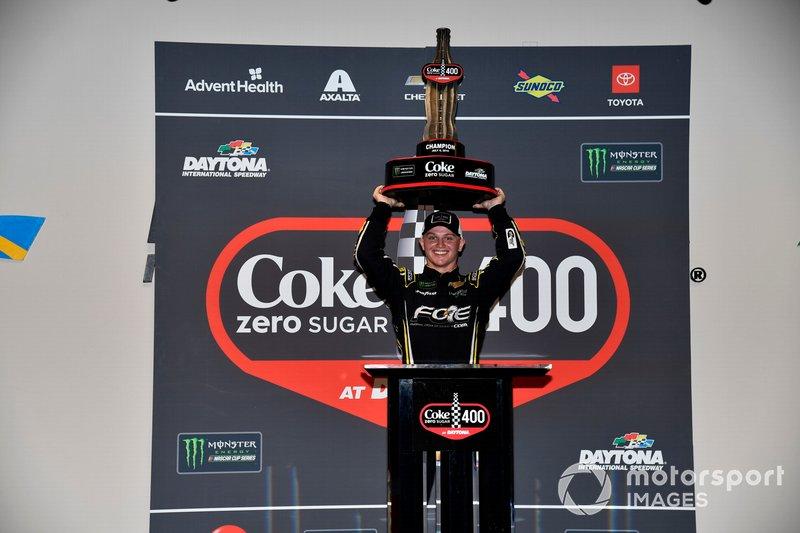 Justin Haley, Spire Motorsports, Chevrolet Camaro Fraternal Order of Eagles victory lane