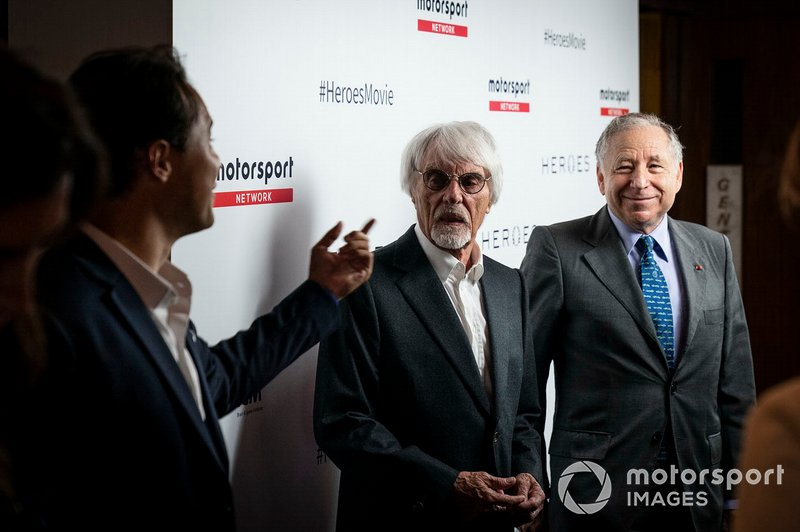 Jean Todt, FIA President and Bernie Ecclestone