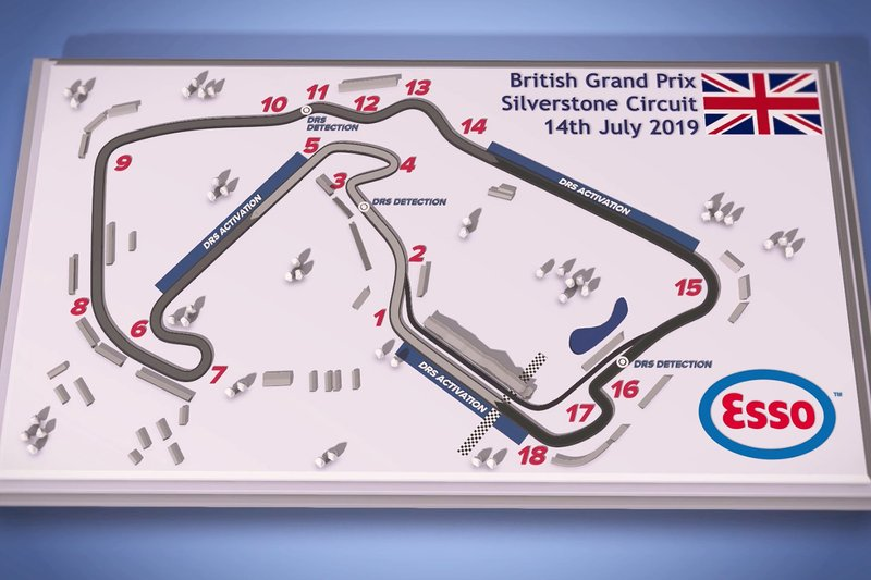 Silverstone track map