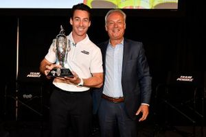 Simon Pagenaud and Fred Lissalde, President and CEO, BorgWarner