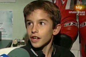 Marc Marquez all'età di dieci anni