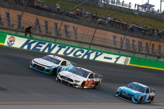 Aric Almirola, Stewart-Haas Racing, Ford Mustang Valley Tech Learning Martin Truex Jr., Joe Gibbs Racing, Toyota Camry Auto Owners Insurance