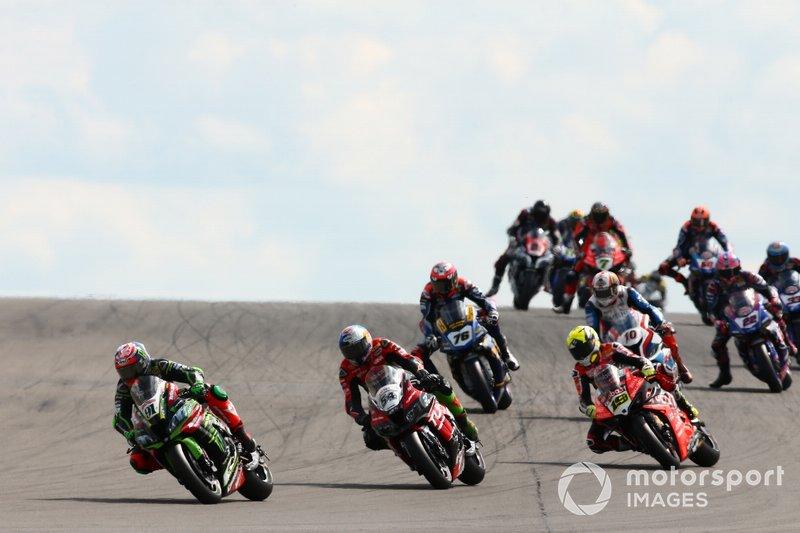 Leon Haslam, Kawasaki Racing Team, Toprak Razgatlioglu, Turkish Puccetti Racing, Alvaro Bautista, Aruba.it Racing-Ducati Team