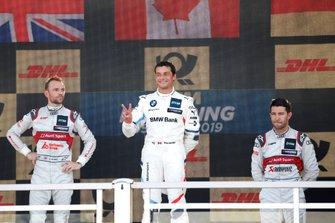 Podium: Race winner Bruno Spengler, BMW Team RMG, second place Jamie Green, Audi Sport Team Rosberg, third place Mike Rockenfeller, Audi Sport Team Phoenix