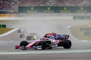 Lance Stroll, Racing Point RP19, leads Charles Leclerc, Ferrari SF90