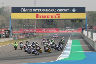 Jules Cluzel, GMT94 Yamaha leads start