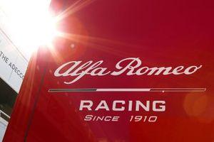 Alfa Romeo Racing motorhome logo