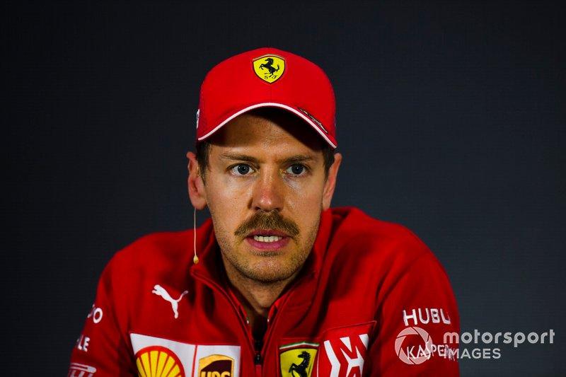 Sebastian Vettel, Ferrari, durante la Conferenza Stampa dopo le qualifiche