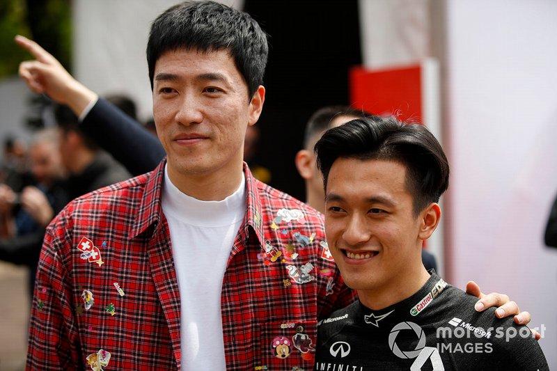 Wilber Pan, Singer and Guanyu Zhou, Renault F1 Team