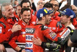 1. Andrea Dovizioso, Ducati Team, 3. Cal Crutchlow, Team LCR Honda
