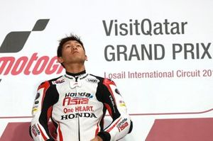 Podium: Race winner Kaito Toba, Honda Team Asia