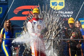 Podium: race winner Fabian Coulthard, DJR Team Penske Ford