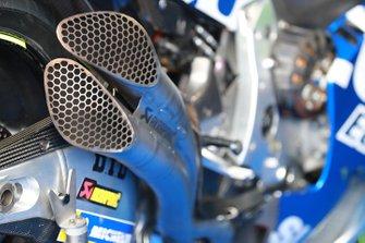 Dettaglio degli scarichi Team Suzuki MotoGP