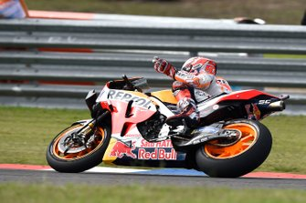 Marc Marquez, Repsol Honda Team, celebrating on the last lap