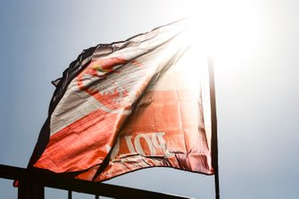 A Polish flag flies in support of Robert Kubica, Williams Racing