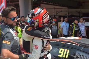 Race 2 winners #911 Absolute Racing Porsche 911 GT3 R: Tanart Sathienthirakul, Philip Hamprecht
