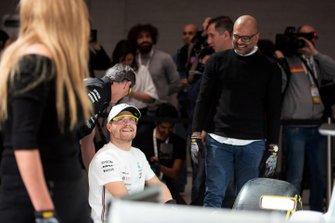 Valtteri Bottas, Mercedes-AMG Petronas Motorsport competes in the Pit stop challenge