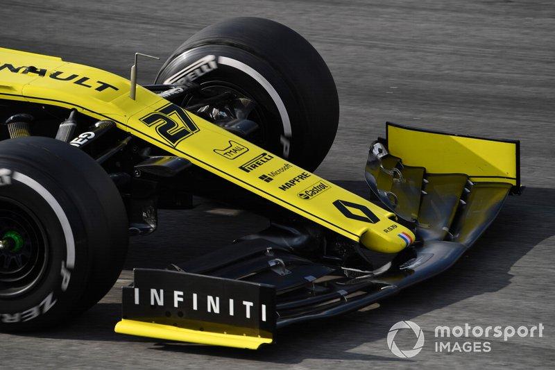 Renault F1 Team R.S. 19 burun detay