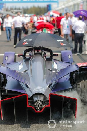 Sam Bird's, Envision Virgin Racing Audi e-tron FE05 on the grid