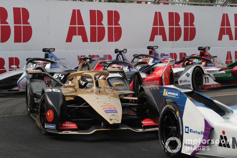 Andre Lotterer, DS TECHEETAH, DS E-Tense FE19, Jérôme d'Ambrosio, Mahindra Racing, M5 Electro, Edoardo Mortara, Venturi Formula E, Venturi VFE05, Pascal Wehrlein, Mahindra Racing, M5 Electro, Lucas Di Grassi, Audi Sport ABT Schaeffler, Audi e-tron FE05