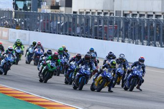 Start der Supersport-WM 2019 im Motorland Aragon in Alcaniz: Federico Caricasulo führt
