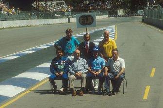 James Hunt, Jackie Stewart, Denny Hulme, Nelson Piquet, Juan-Manuel Fangio, Ayrton Senna, Jack Brabham