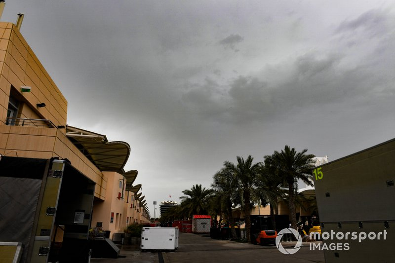 Darks skies after rainfall in Bahrain