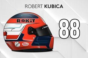 Le casque 2019 de Robert Kubica