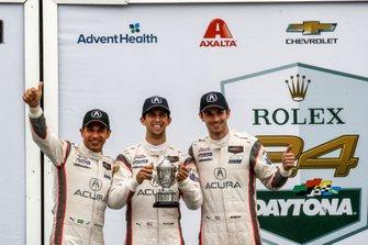 #7 Acura Team Penske Acura DPi, DPi: Helio Castroneves, Ricky Taylor, Alexander Rossi, podium